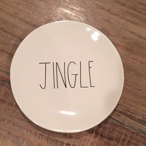"Rae Dunn ceramic ""Jingle"" plate"